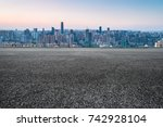 cityscape and skyline of...   Shutterstock . vector #742928104