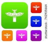 traditional religious totem... | Shutterstock .eps vector #742935664