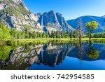yosemite national park  ... | Shutterstock . vector #742954585