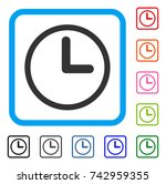 clock icon. flat grey pictogram ...