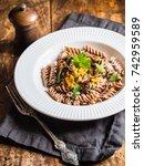 homemade pumpkin pesto with... | Shutterstock . vector #742959589