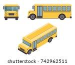 isometric 3d retro flat design... | Shutterstock .eps vector #742962511