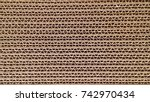 corrugated cardboard for... | Shutterstock . vector #742970434