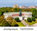 famous statue of bavaria at the ... | Shutterstock . vector #742970554