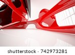 abstract dynamic interior with... | Shutterstock . vector #742973281