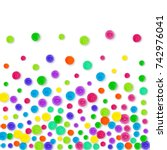 confetti border on white... | Shutterstock . vector #742976041