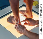 foot scaning | Shutterstock . vector #742982659