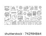 vector statistics line... | Shutterstock .eps vector #742984864