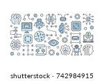 modern technology illustration... | Shutterstock .eps vector #742984915