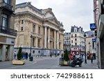 brussels  belgium   april 2015  ... | Shutterstock . vector #742988611