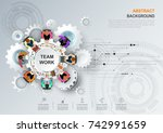 business meeting and... | Shutterstock .eps vector #742991659