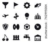 16 Vector Icon Set   Funnel ...