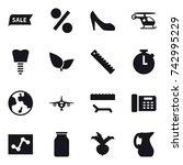 16 vector icon set   sale ...   Shutterstock .eps vector #742995229