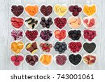 food for healthy living with... | Shutterstock . vector #743001061