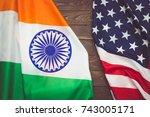 Usa Flag And The Flag Of The...