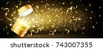 christmas background with open... | Shutterstock .eps vector #743007355