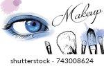 vector hand drawn illustration... | Shutterstock .eps vector #743008624