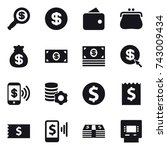 16 vector icon set   dollar... | Shutterstock .eps vector #743009434