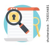 keyword research flat icon  | Shutterstock .eps vector #743014681