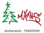 spray graffiti tag ''m.xmas'' ...