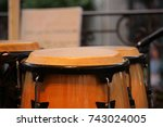 the rhythm of life. drums. | Shutterstock . vector #743024005