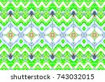 colorful horizontal pattern for ... | Shutterstock . vector #743032015