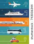 illustrations on different... | Shutterstock .eps vector #743036344