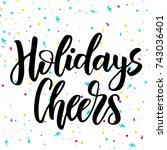 happy new year handwriting... | Shutterstock .eps vector #743036401