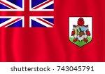 vector bermuda flag  bermuda...   Shutterstock .eps vector #743045791
