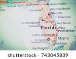 florida map | Shutterstock . vector #743045839