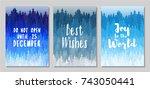 do not open until december 25 ... | Shutterstock .eps vector #743050441
