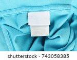textile size garment labels... | Shutterstock . vector #743058385