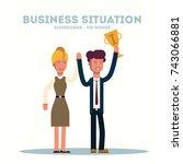 business concept. businessman   ...   Shutterstock .eps vector #743066881