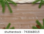 christmas background of... | Shutterstock . vector #743068015