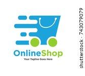 logo template   shopping. the... | Shutterstock .eps vector #743079079