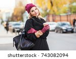 outdoors lifestyle fashion...   Shutterstock . vector #743082094