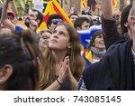 barcelona  catalonia  spain  ... | Shutterstock . vector #743085145