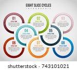 vector illustration of eight...   Shutterstock .eps vector #743101021