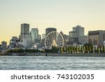 scenic panorama of the city of... | Shutterstock . vector #743102035
