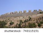 the israeli settlements in the... | Shutterstock . vector #743115151