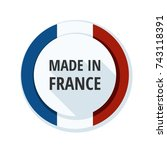 made in france button... | Shutterstock .eps vector #743118391