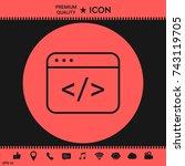 code editor icon | Shutterstock .eps vector #743119705