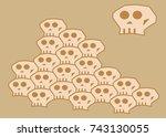 a loopable skull vector for... | Shutterstock .eps vector #743130055