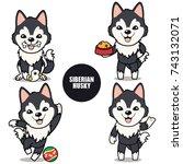 character design of black... | Shutterstock .eps vector #743132071
