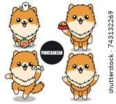 character design of brown... | Shutterstock .eps vector #743132269