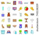 comfort indoor icons set