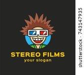joyful boy is delighted with...   Shutterstock .eps vector #743147935