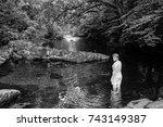 swimming in the dart river in...   Shutterstock . vector #743149387