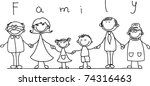 happy family holding hands and... | Shutterstock .eps vector #74316463