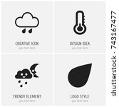 set of 4 editable weather icons....